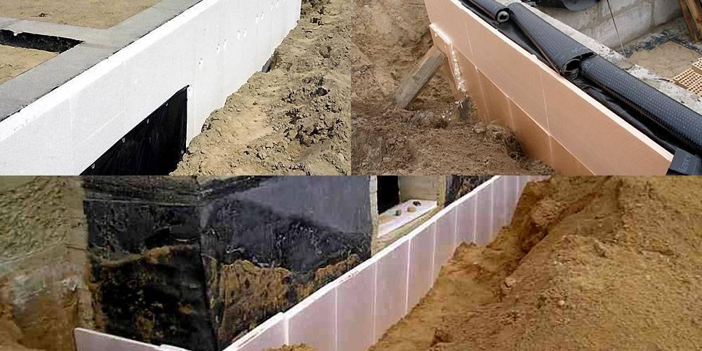 Чем утеплить фундамент дома снаружи