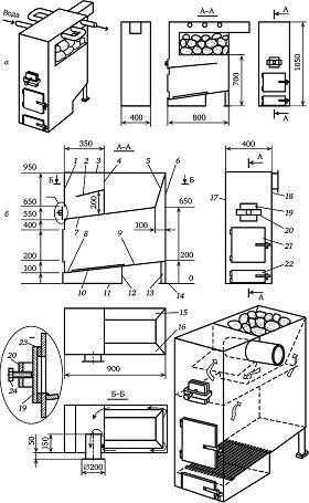 Металлическая печь для бани своими руками - советы по улучшению эффективности + пошаговая инструкция!