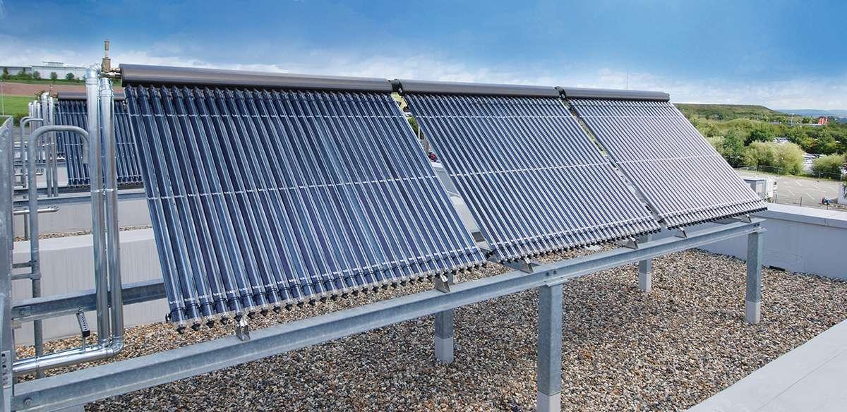Принцип работы вакуумного солнечного коллектора с трубками - точка j