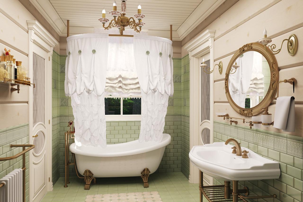 Ванна в стиле прованс, какая она?