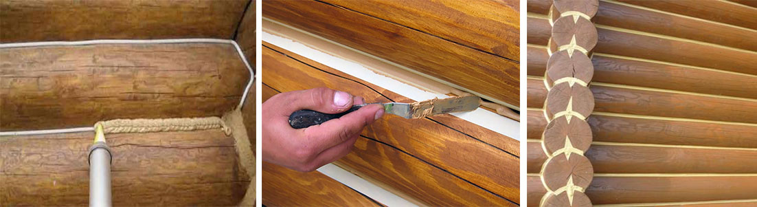 Теплый шов для деревянного (их сруба) дома в 6 шагов. правильный выбор герметика
