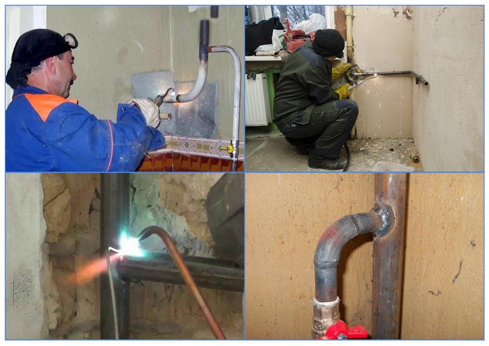 Перенос газовой трубы в квартире: согласование, нормы, колонки, котла, кухни с газовой плитой