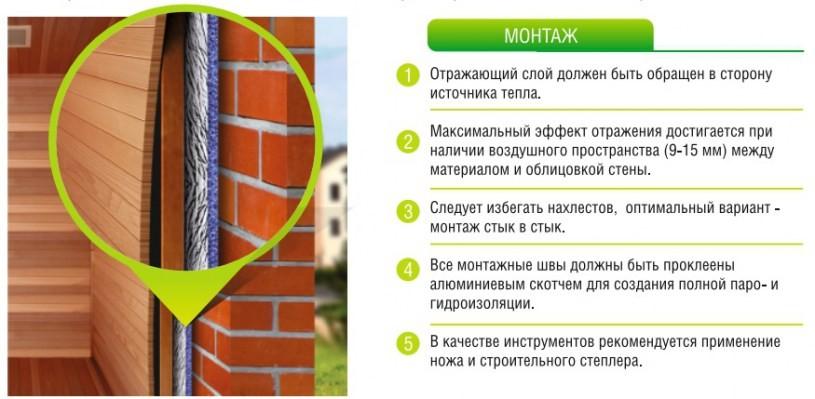 Фольгированный утеплитель для стен: виды и применение