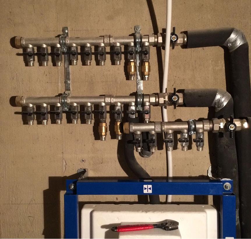Распределительный коллектор отопления: гребенка с гидрострелкой   инженер подскажет как сделать