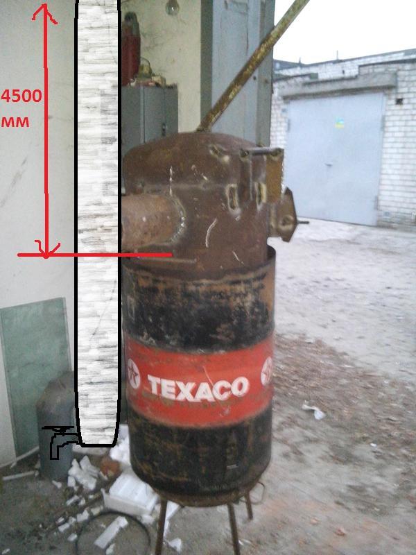 Самодельная буржуйка из газового баллона для гаража своими руками