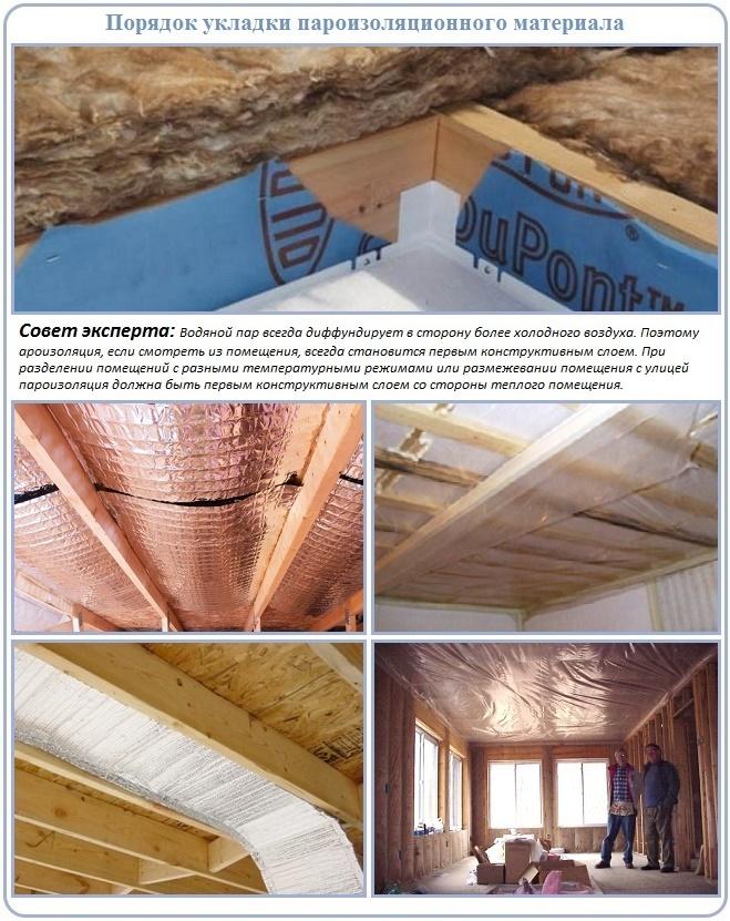 Пароизоляция для потолка в деревянном перекрытии: виды, какую выбрать и как укладывать на холодном чердаке