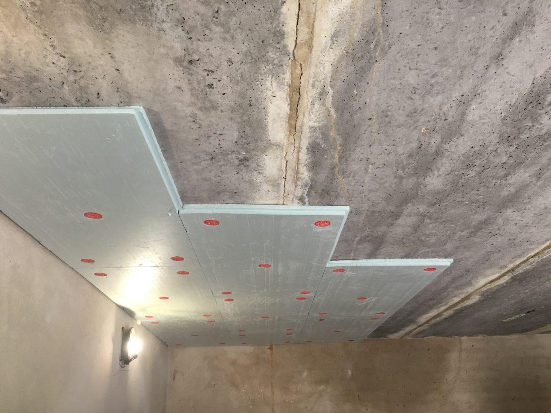Утепление бетонного потолка в подвале