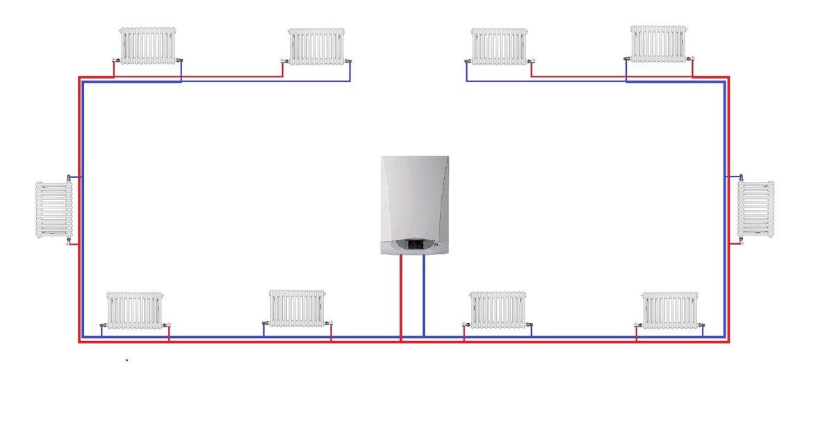 Попутная система отопления схема своими руками видео