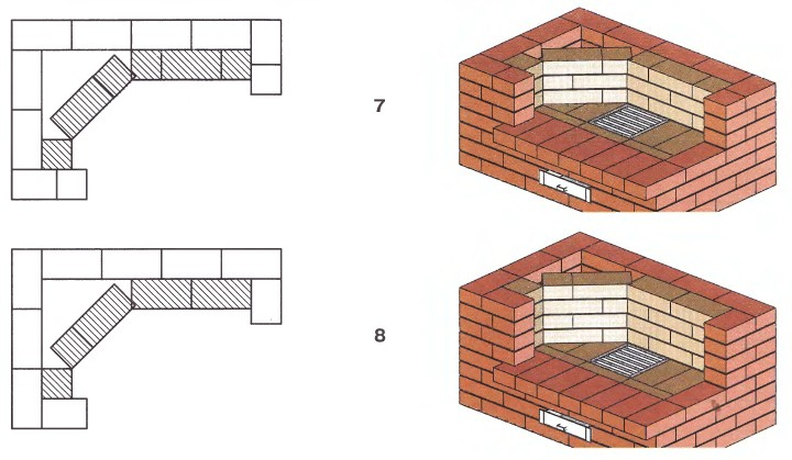 Как построить угловой камин из кирпича