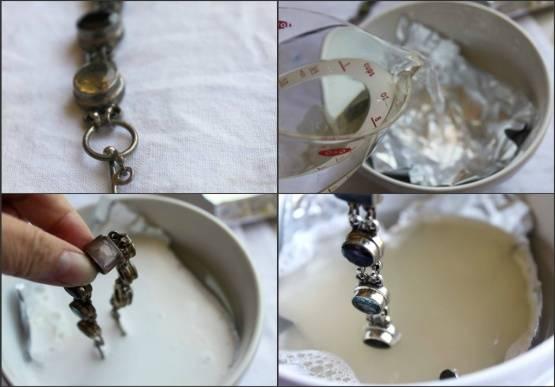 Как почистить золото с камнями в домашних условиях чтобы блестело