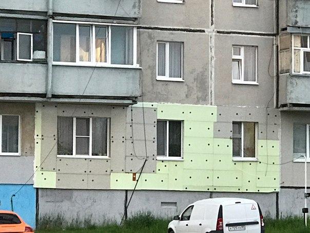 Утепление фасада в москве по технологии «мокрый фасад»