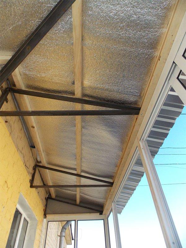 Как утеплить крышу балкона на последнем этаже - мастерсам