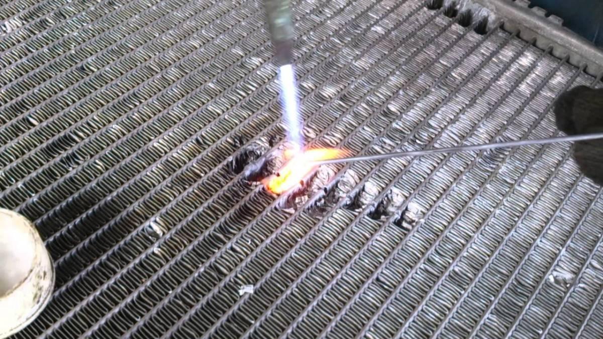 Пайка алюминиевых радиаторов своими руками