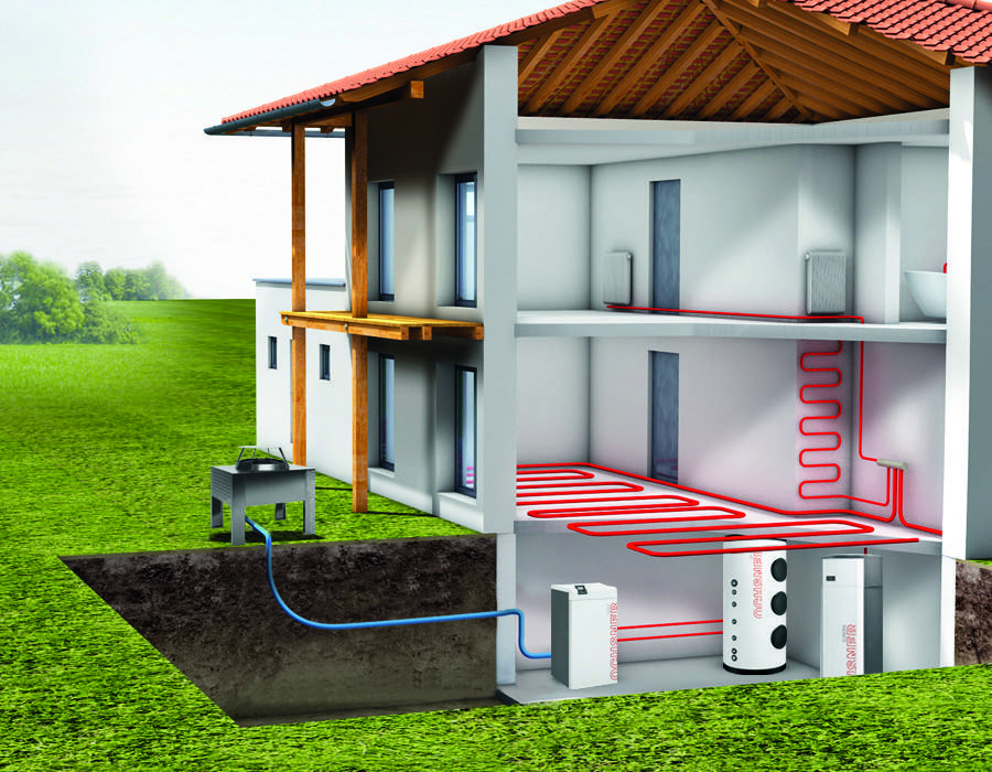Принцип действия, монтаж, плюсы и минусы геотермального отопления для дома