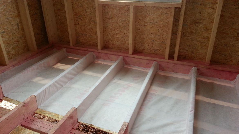 Утепление пола в каркасном доме на фундаменте керамзитом, правильная схема теплоизоляции