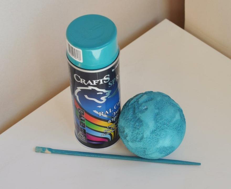 Чем покрасить пенопласт