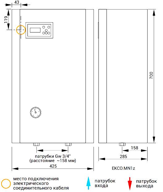 Электрический котел kospel ekco l2 8 квт с циркуляционным насосом и недельным программатором в комплекте, 6 ступеней мощности - в спб   kospel.spb.ru