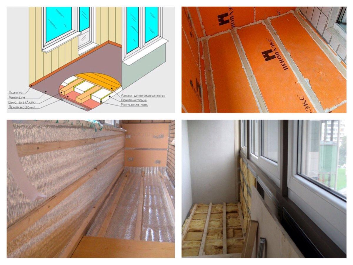Как утеплить балкон изнутри своими руками: пошаговая инструкция теплоизоляции. как правильно нанести утепление (115 фото)