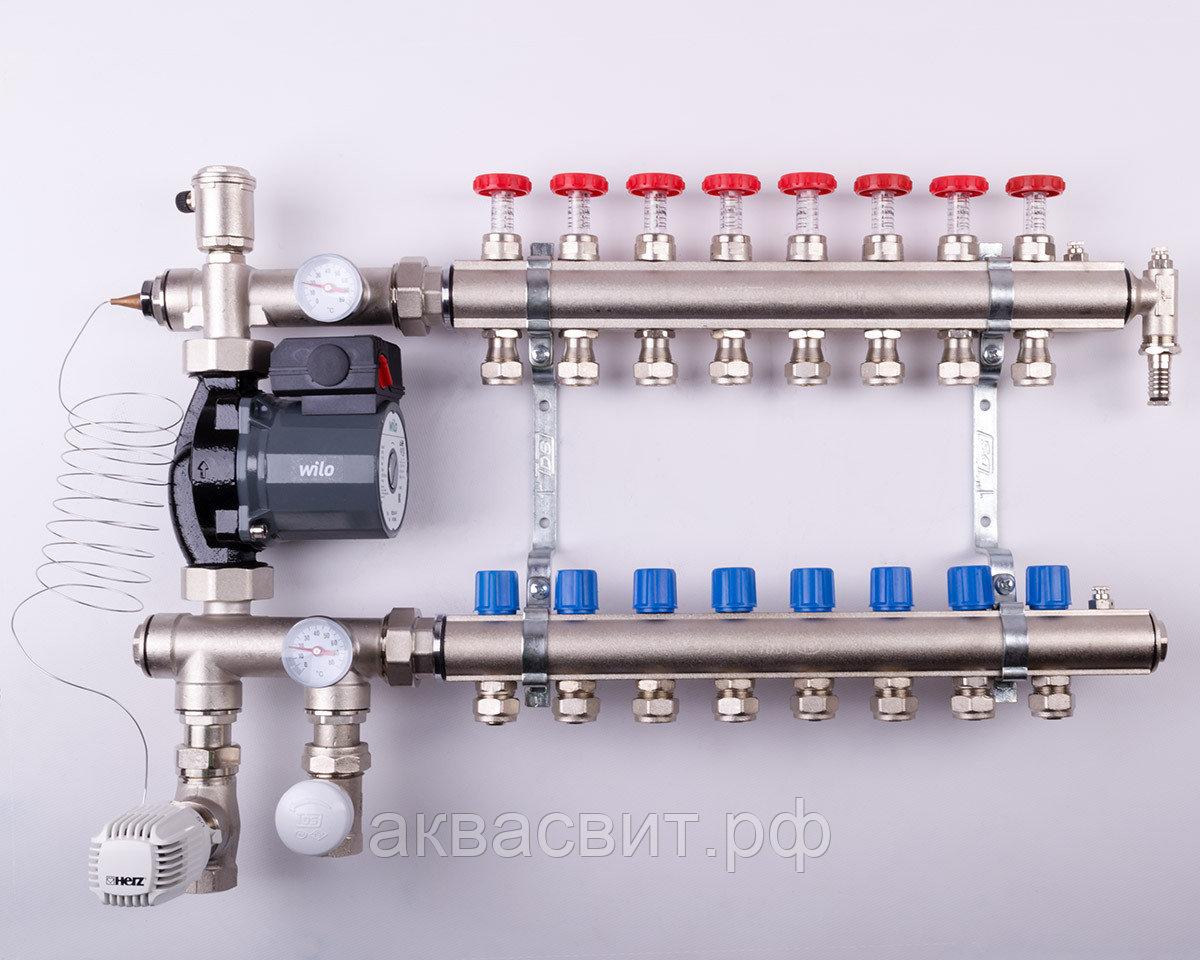 Коллектор отопления схема и принцип работы, как собрать своими руками
