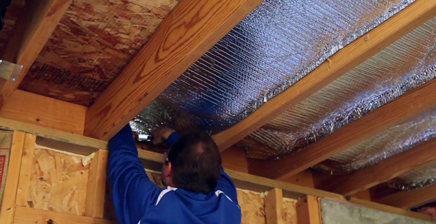 Технология утепления стен фольгированным утеплителем изнутри и снаружи