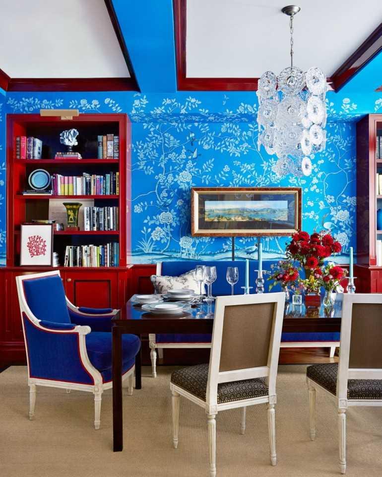 Особенности синего цвета в интерьере