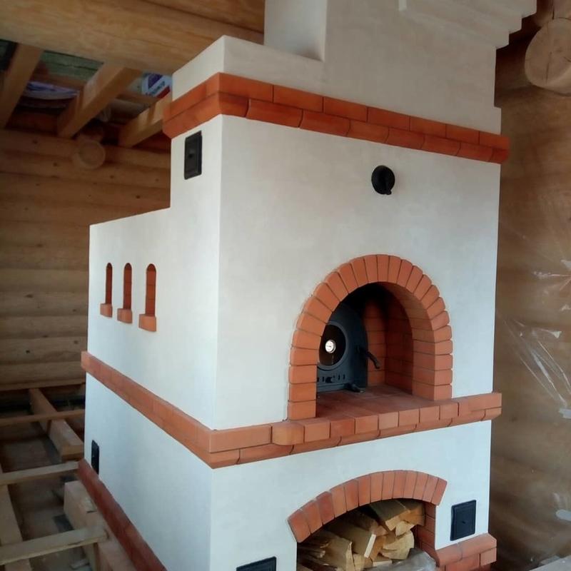 Печь русская с лежанкой и плитой: чертежи, схема порядовки, фото и видео инструкция для изготовления своими руками