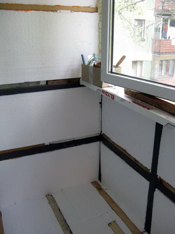 Утепление балкона или лоджии пенопластом своими руками: технология и инструкция по монтажу