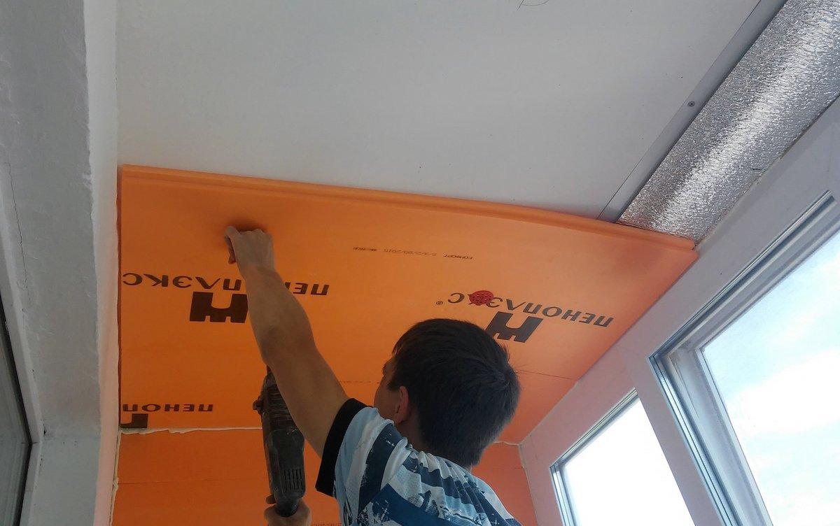 Технология утепления потолка изнутри и снаружи деревянного дома пенопластом