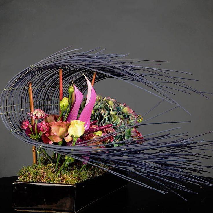 Цветочные композиции из искусственных цветов для интерьера - обзор композиций