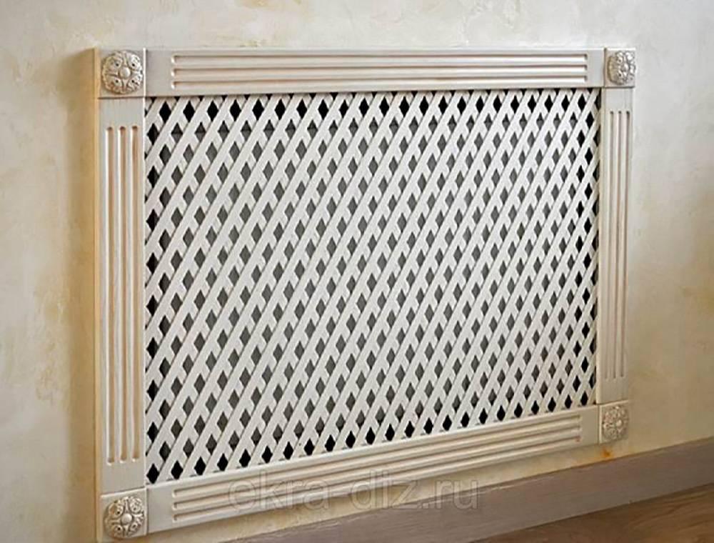 Решётка декоративная для радиатора отопления: функции, преимущества и недостатки, виды, изготовление решетки на батарею своими руками