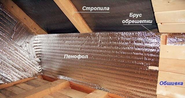 Блестящая теплоизоляция: фольгированный утеплитель