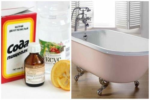 Способы очистки ванны в домашних условиях от образовавшегося желтого налета