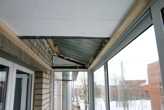 Утепление крыши балкона на последнем этаже - строительный журнал