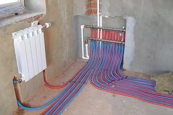Вертикальная и горизонтальная схема разводки отопления