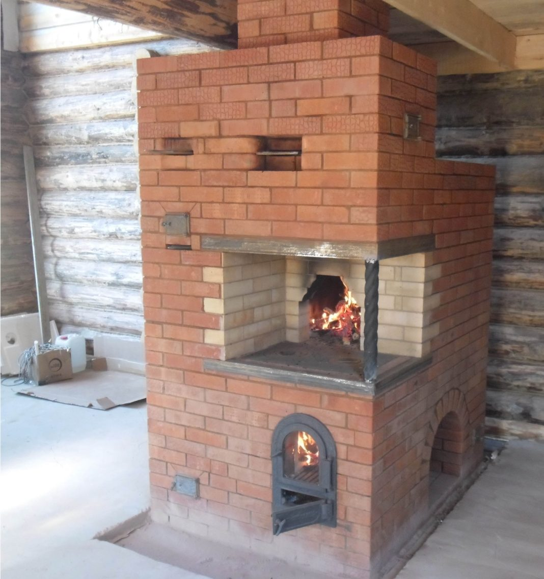 Печка для дачи из кирпича: фото, схемы, инструкция