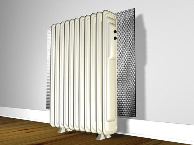 Теплоотражающий экран за радиатором   блог инженера теплоэнергетика