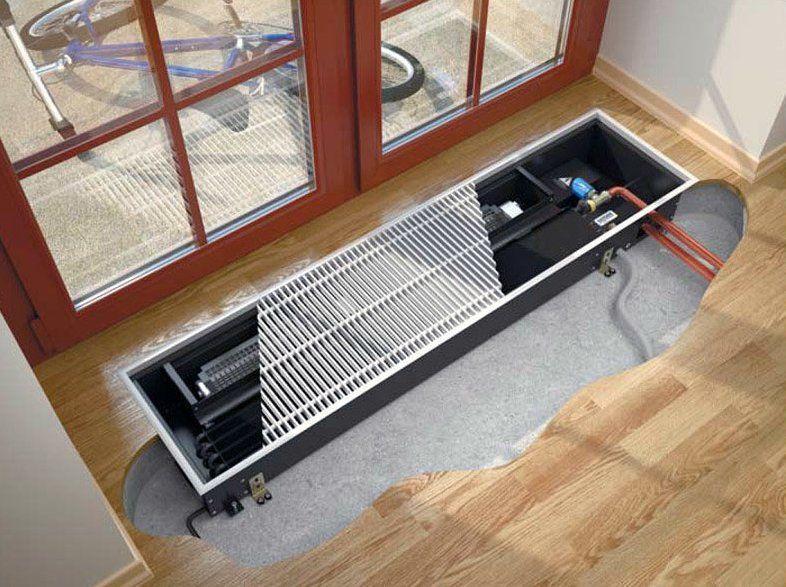 Водяные конвекторы отопления (49 фото): настенные и плинтусные встраиваемые отопительные конвектора с вентилятором, размеры, производители и подключение