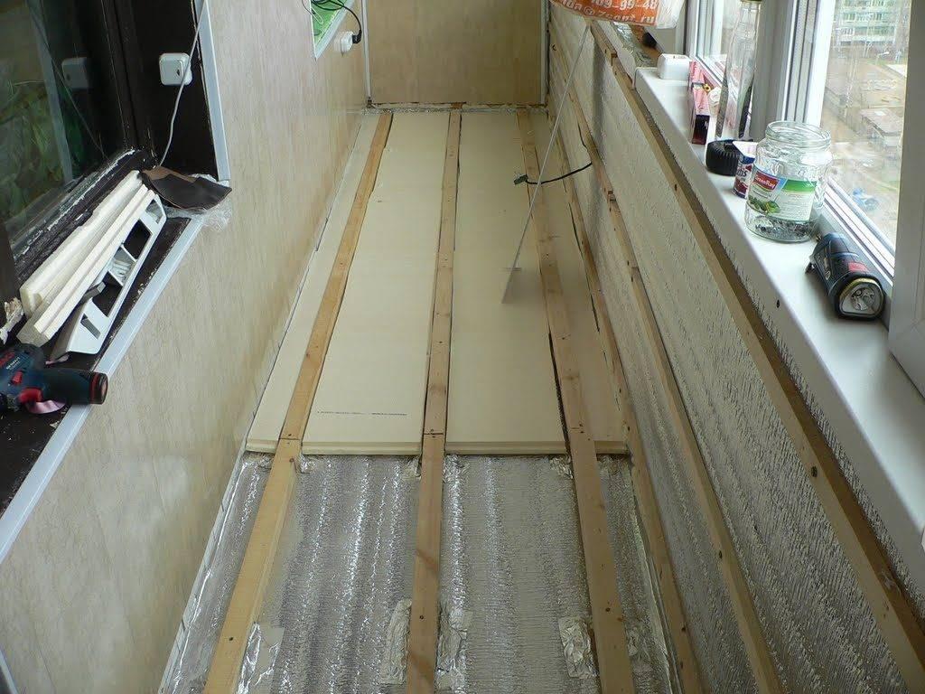 Утепление пола на балконе (94 фото): чем лучше утеплить внутри, утепляем изнутри и снаружи пенопластом