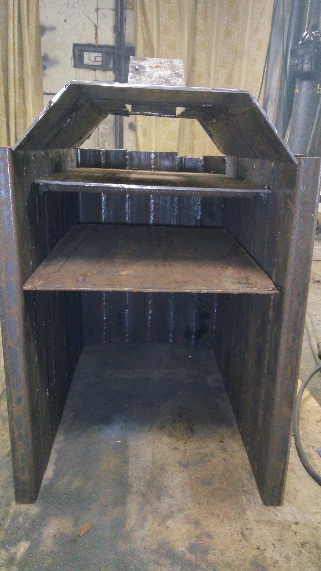 Как сделать печь буржуйку в гараж на дровах и отработке