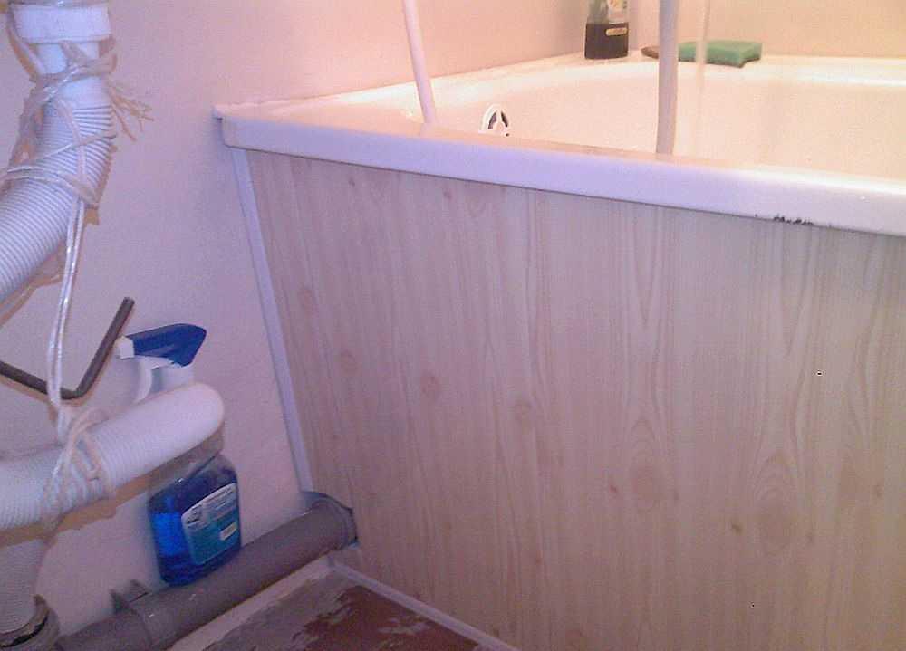 Экран для ванны своими руками: из пластиковых панелей, из плитки, инструкция пошагово, фото