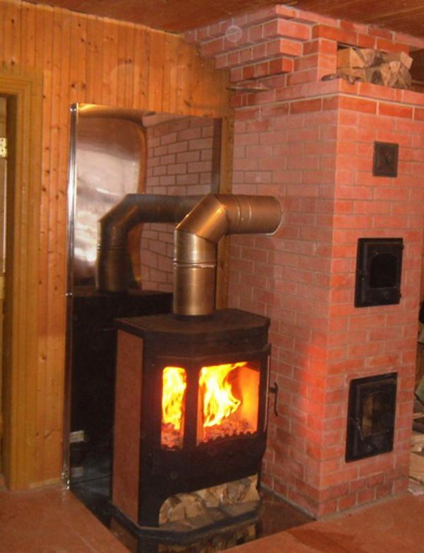Финская дровяная печь для дачи: как выбрать, установить и подключить к дымоходу