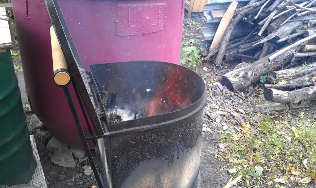 Печь для сжигания мусора на даче изготовление садового утилизатора своими руками