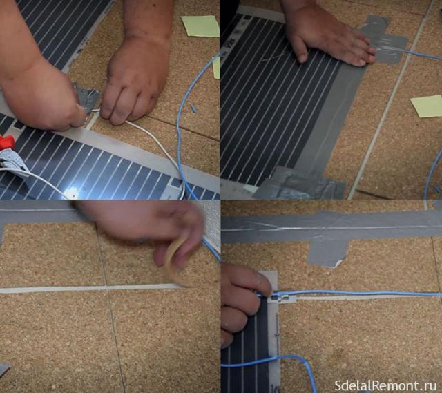 Как сделать инфракрасный теплый пол своими руками: монтаж и подключение пленочного пола