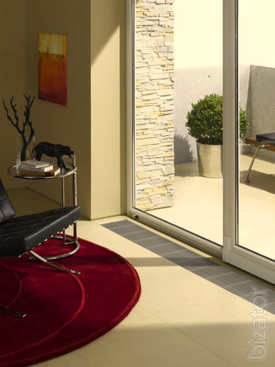 Напольные радиаторы отопления: низкие встраиваемые в пол и для панорамных окон водяные
