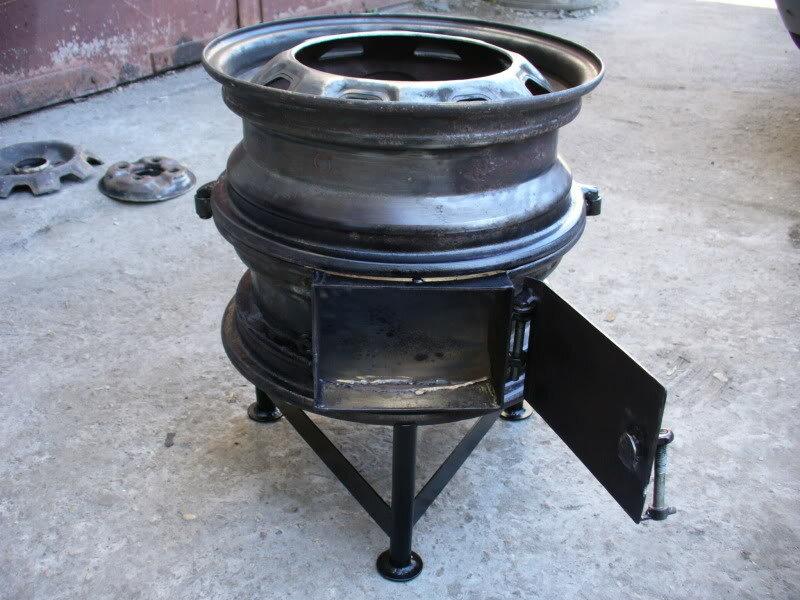 Как сделать печку из автомобильных дисков: плюсы, материалы, этапы изготовления печки своими руками