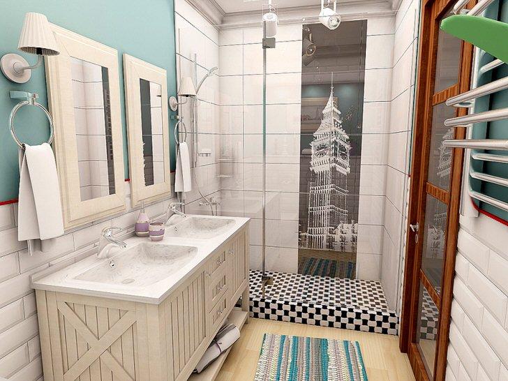 Дизайн ванной комнаты в скандинавском стиле (13 фото)