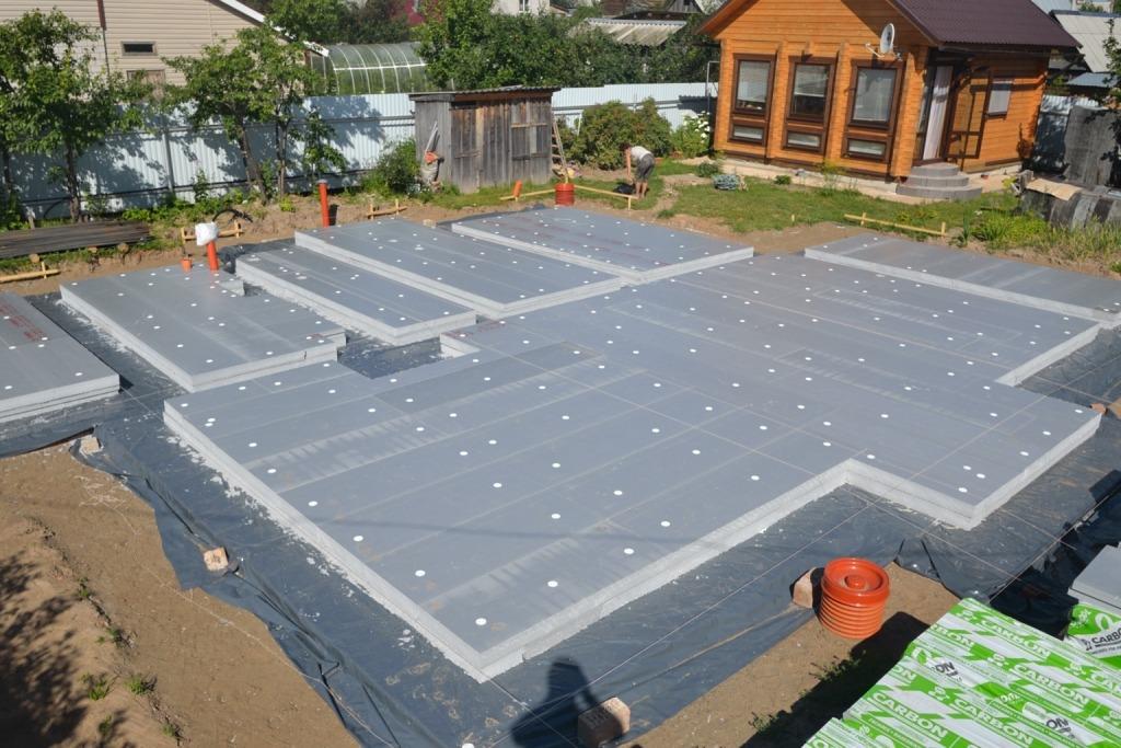 Утеплённая шведская плита: как построить обогреваемый фундамент своими руками