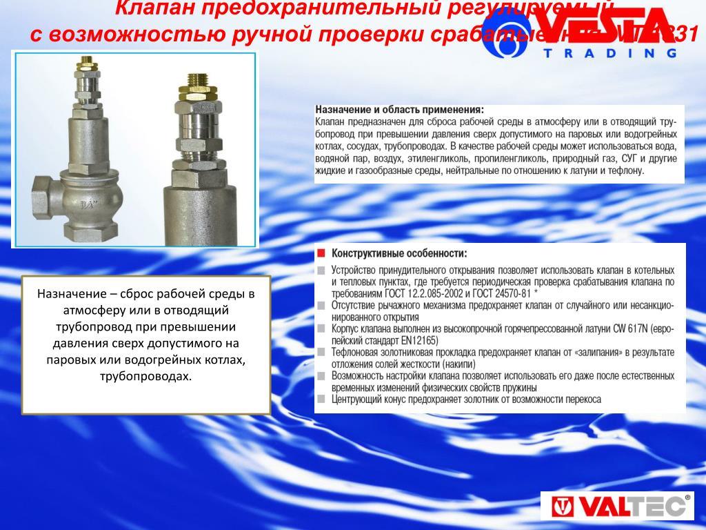 Предохранительный клапан — рекомендации по выбору и установке. жми!
