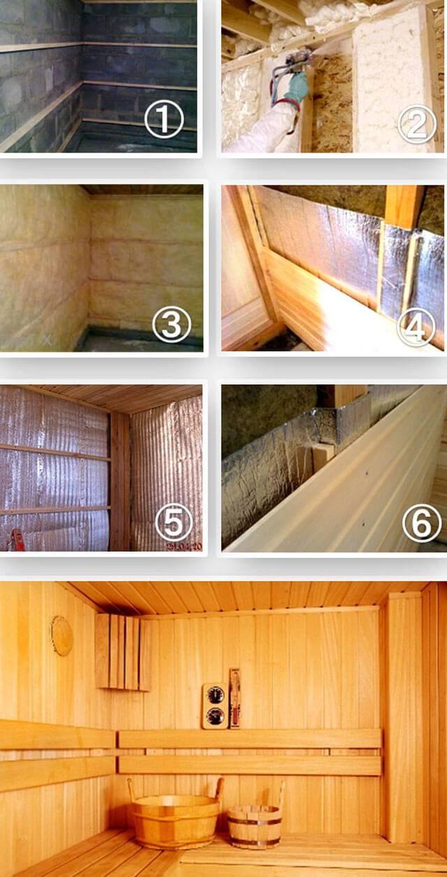 Утепление каркасной бани своими руками, выбор материала-утеплителя и последовательность работ