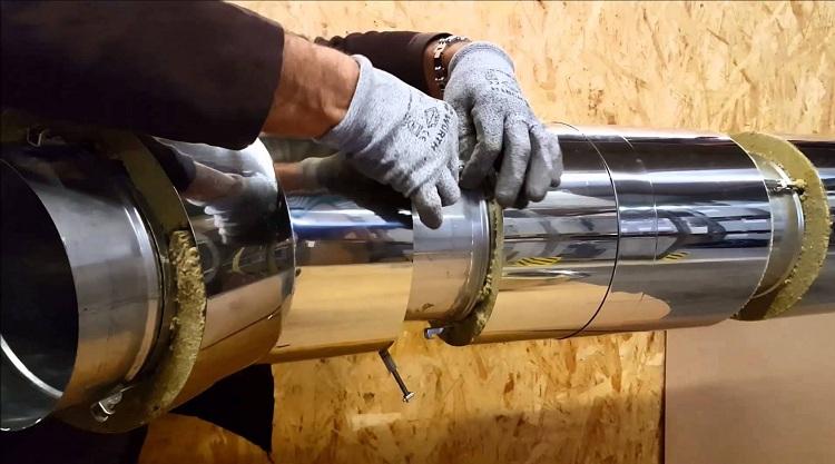 Как своими руками сделать оцинкованную трубу для дымохода: пошаговая инструкция